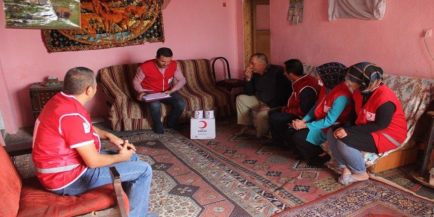 Kızılay'dan ailelere et yardımı