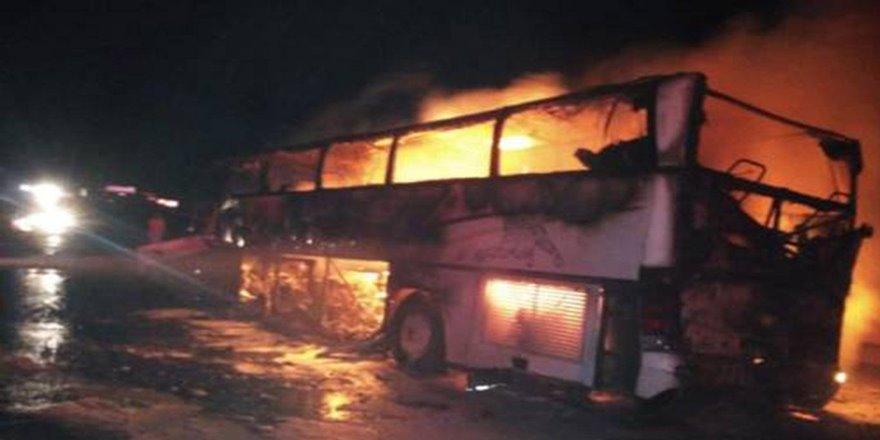 Umre otobüsü kaza yaptı: 35 ölü 4 yaralı
