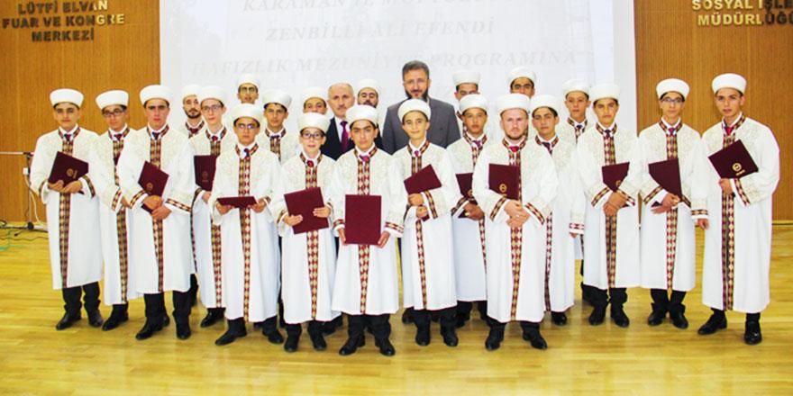 Karaman'da 29 hafız icazet aldı