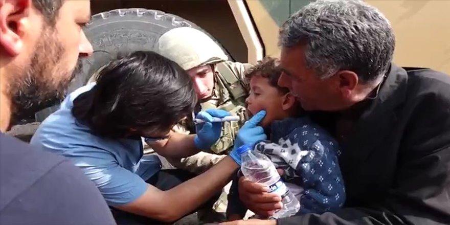 Tel Abyad'da hastalara tedavi desteği