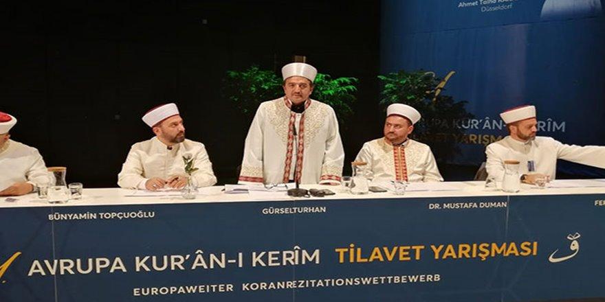 Avrupa Kur'an-ı Kerim Tilavet yarışması Almanya'da düzenlendi
