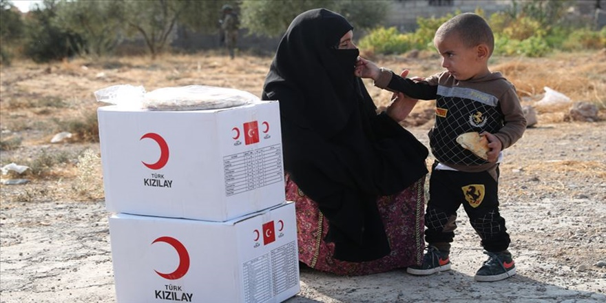 Türk Kızılaydan Tel Abyad'a yardım