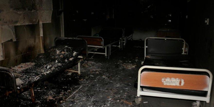 Teröristlerin kaçarken yaktığı Tel Abyad Hastanesi ayağa kaldırılıyor