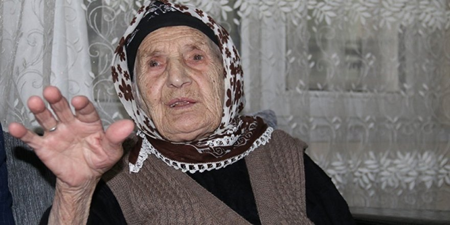 107 yaşında dişi çıkan Emine nine: Sağlıklı yaşamanınsırrıduadan geçiyor