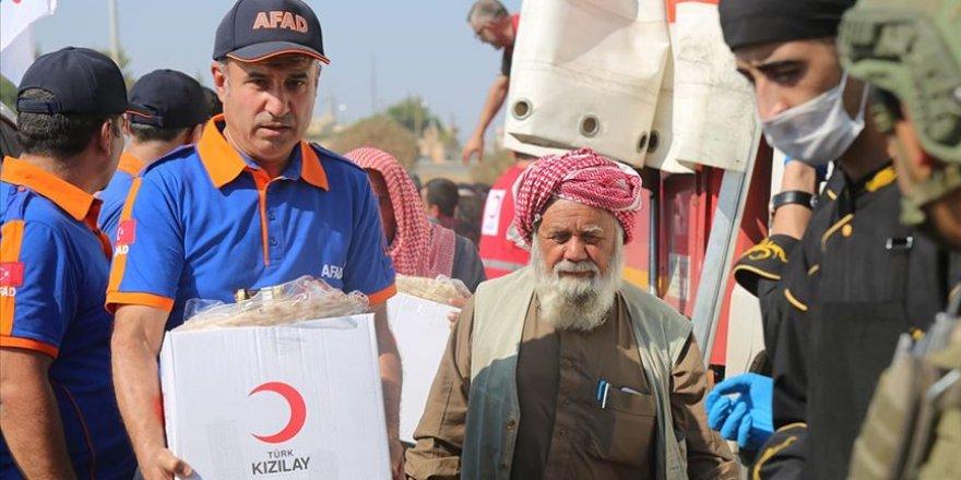 AFAD Barış Pınarı Harekatı bölgesinde sivillerin en büyük destekçisi