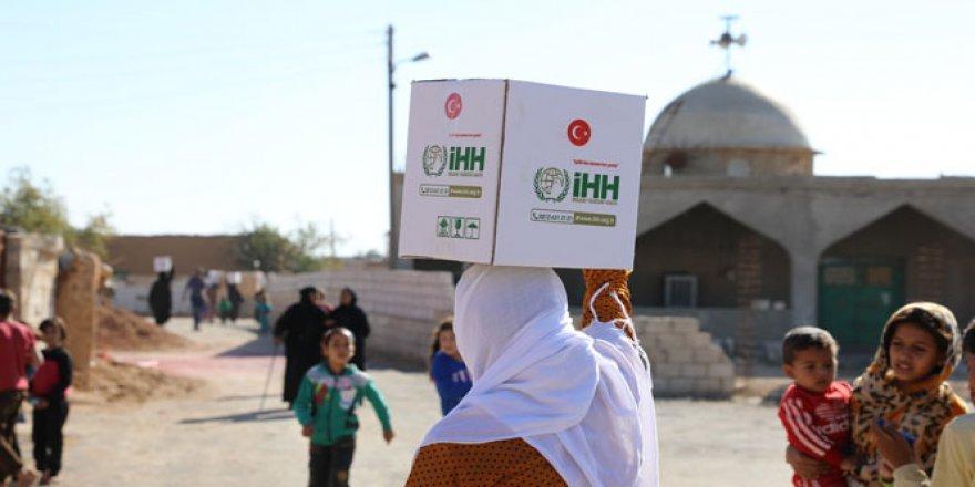Tel Abyad ve Resülayn'da 2 bin aileye yardım eli