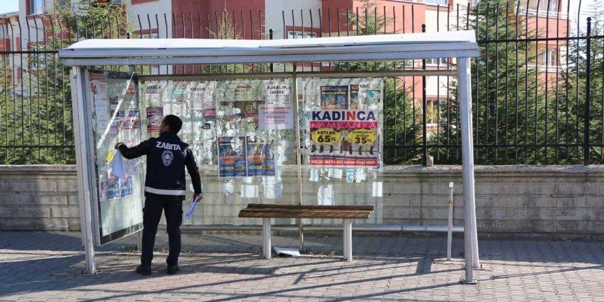 İzinsiz reklam asanlara ceza kesildi