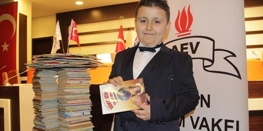 Maşallah! 4 ayda 1053 kitap okuyan Mahir Guinness Rekorlar Kitabı'nda