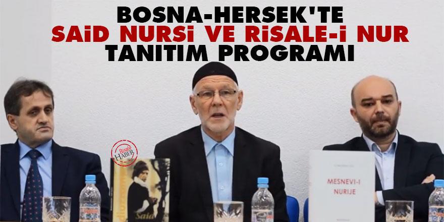 Bosna-Hersek'te Said Nursi ve Risale-i Nur tanıtım programı