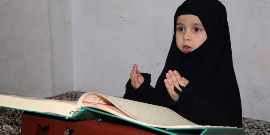 Maşallah! Suriyeli Lütfiye 4,5 yaşında hafız oldu