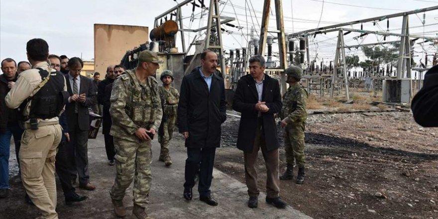Tel Abyad ve Resulayn'da evlere elektrik verilmeye başlandı