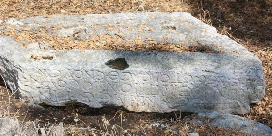 Muğla'da antik kent yakınlarında yazıtlar bulundu