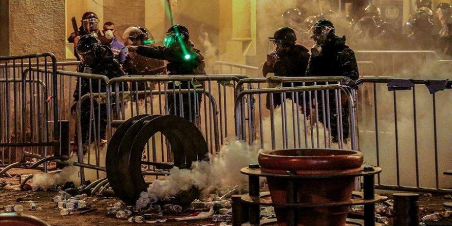 Lübnan'daki gösterilerde çok sayıda kişi yaralandı