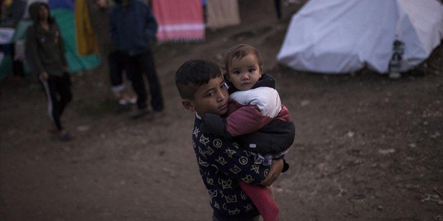 Moria mülteci kampındaki çocuklar ciddi sağlık sorunları yaşıyor