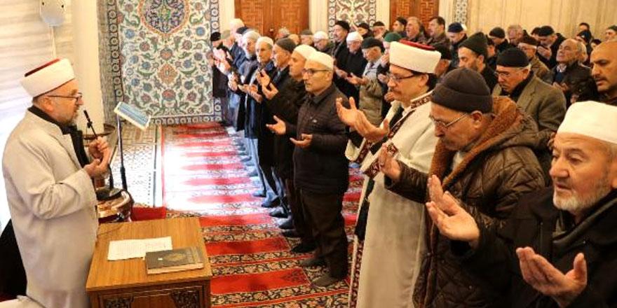 Selimiye Camii'nde 'yağmur' duası