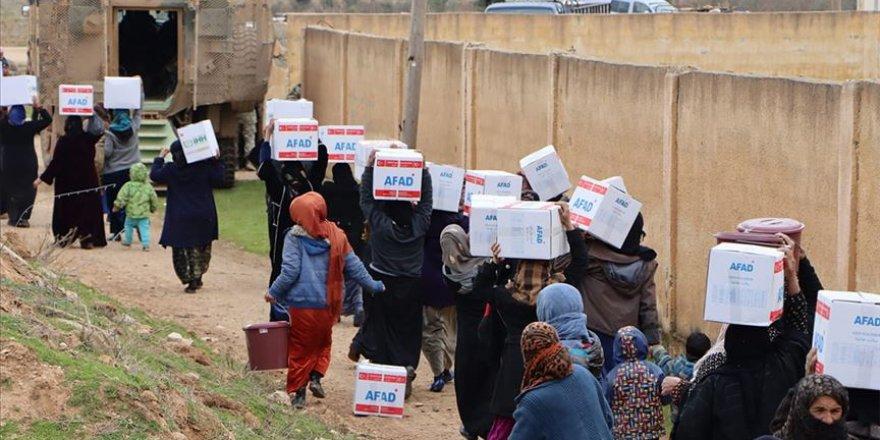 Rasulayn ve Tel Abyad'a insani yardımlar devam ediyor