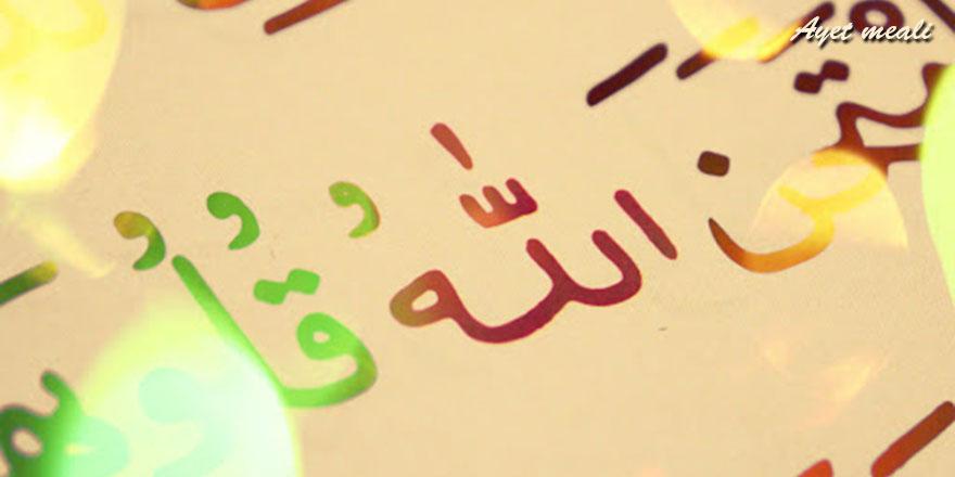 Kur'ân'ı hak ile indirdik, emîn ellerde hiç değişmeden size hak ile indi