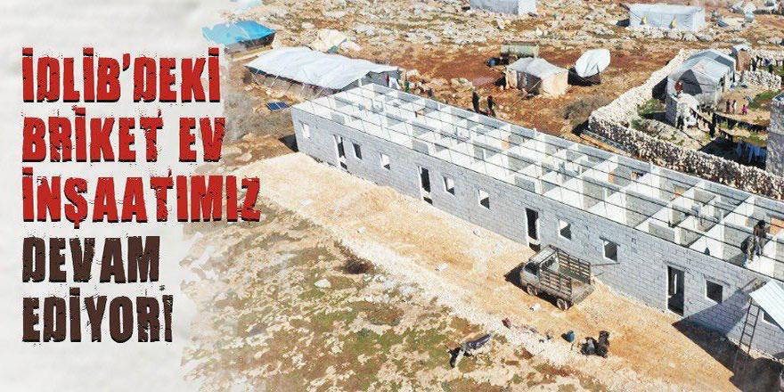 Çare Derneği İdlib'te çadırkent ve briket evler yapıyor