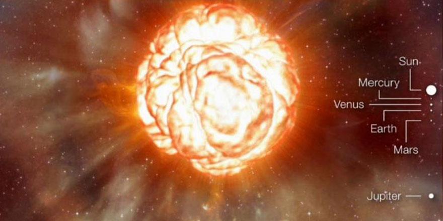 Güneş'ten 1000 kat daha büyük olan yıldız her an patlayabilir