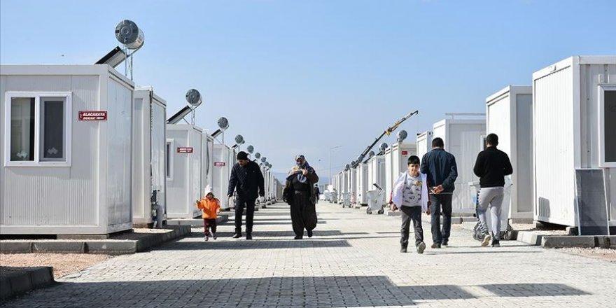 Depremzedelerin konteyner kente yerleşme süreci devam ediyor
