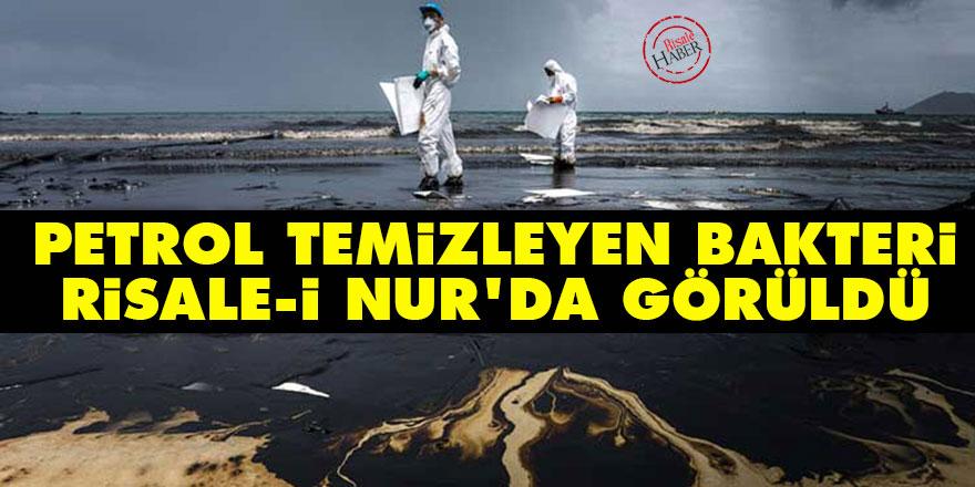 Petrol temizleyen bakteri Risale-i Nur'da görüldü