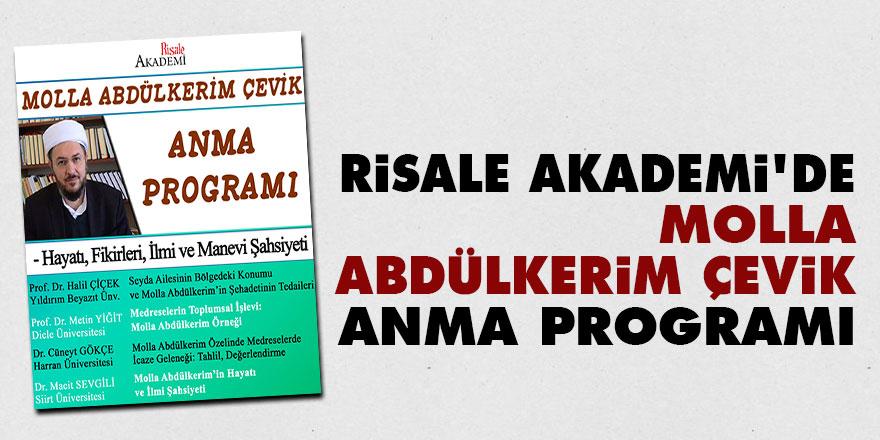 Risale Akademi'de Molla Abdülkerim Çevik anma programı