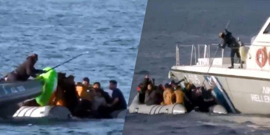 Vicdansızlar! Mültecilerin botunu batırmaya çalıştılar