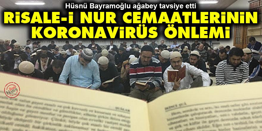 Risale-i Nur cemaatlerinin koronavirüs önlemi
