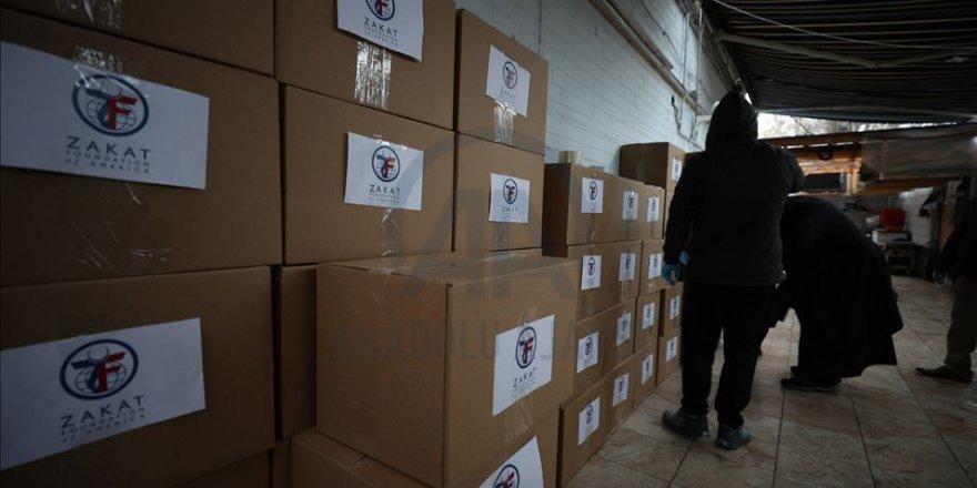 ABD'deki Zekat Vakfından fakirlere koronavirüs yardımı