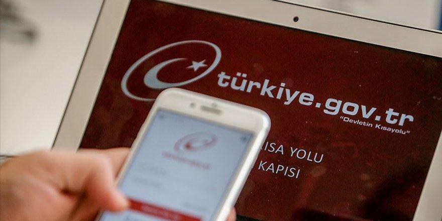 Türkiye evde kaldı kamu hizmetini 'e-Devlet'ten aldı