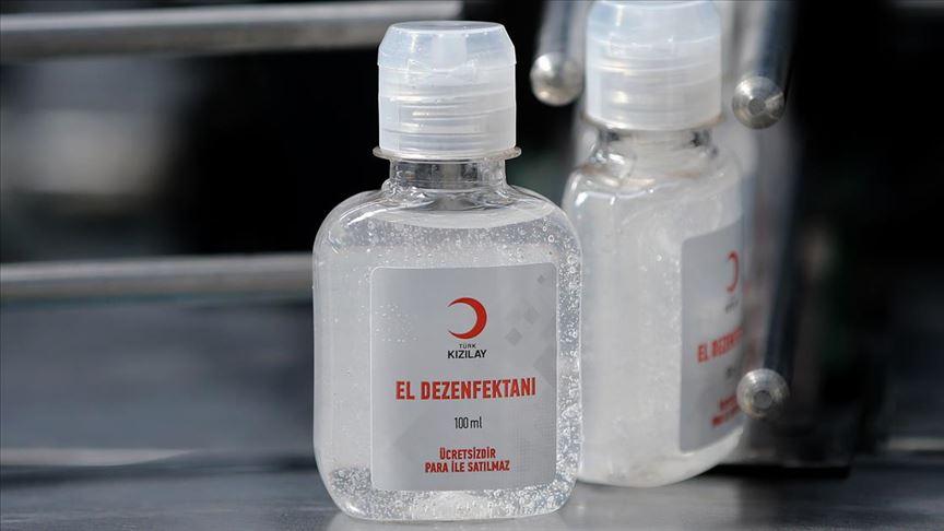 Türk Kızılay ihtiyaç sahiplerine el dezenfektanı dağıtacak