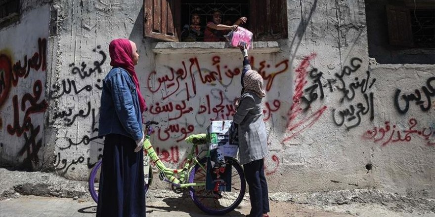 Zor şartlara rağmen Gazzeliler bayram sevincini yaşıyor
