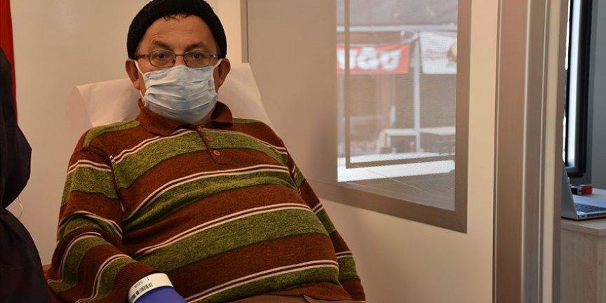 Koronavirüsten iyileşen müezzin immün plazma bağışçısı oldu