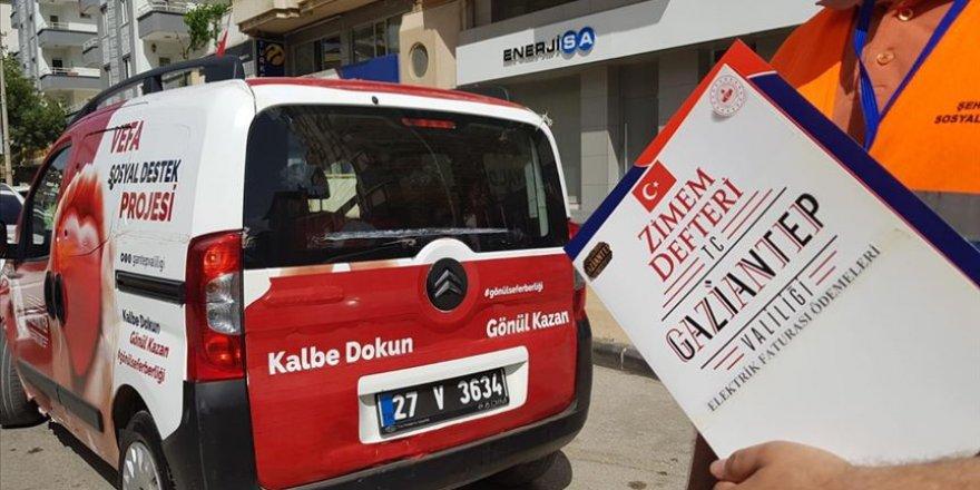 Gaziantep'te 'Zimem Defteri' projesi ile 9 bin 500 hanenin elektrik borcu ödendi
