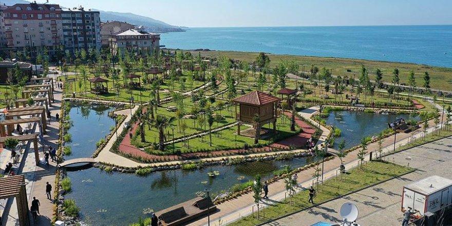 Karadeniz manzaralı 'Millet Bahçesi' vatandaşın beğenisini topladı