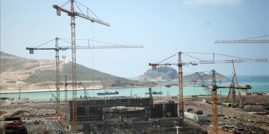 Akkuyu Nükleer Güç Santrali'nin inşaatı devam ediyor