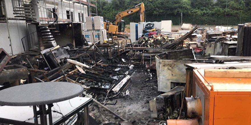 Almanya'daki camide yangın çıktı