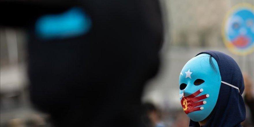 İstanbul'da Doğu Türkistanlılardan Çin işgaline tepki