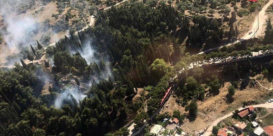 Spil Dağı'nda ormanlık alanda yangın çıktı