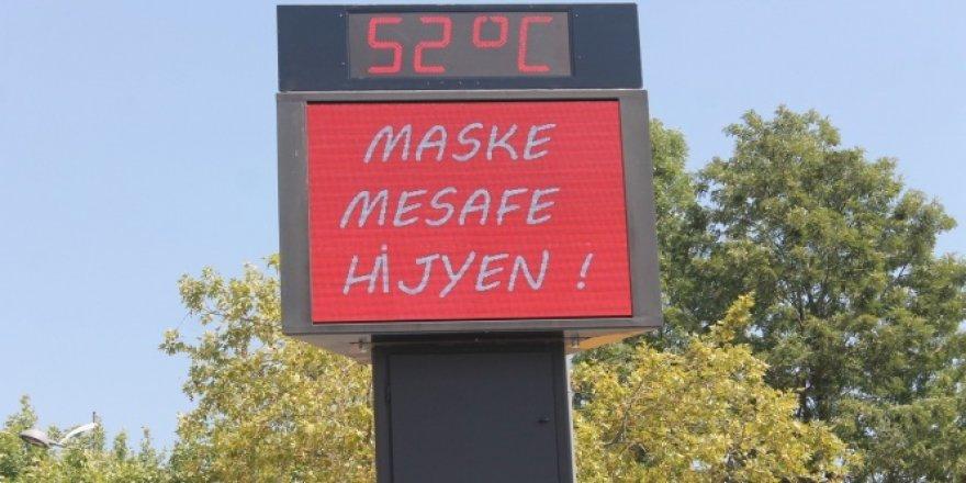 Aydın'da 52 derece sıcaklık ölçüldü