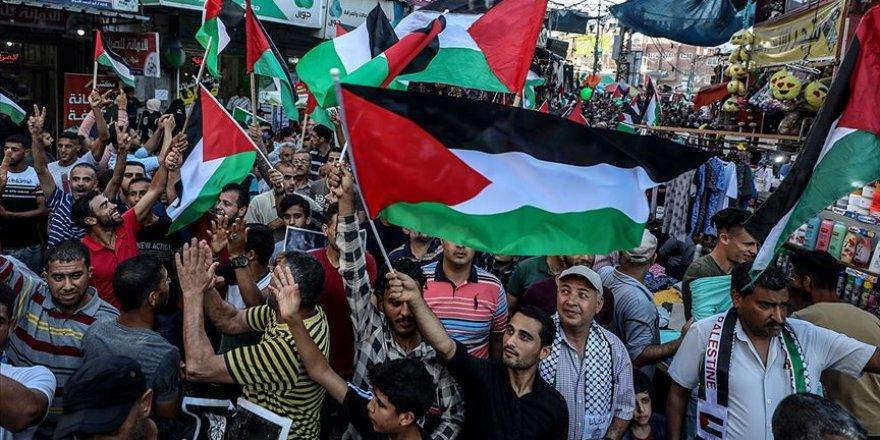 Gazze'de İsrail'in 'İlhak' planı Filistinli gruplarca protesto edildi