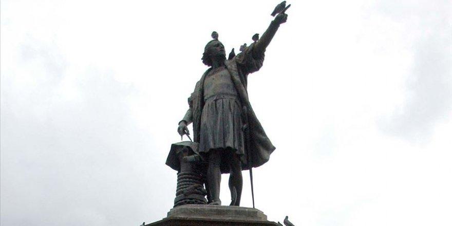 Kristof Kolomb'un ABD'deki bir heykeli daha yıkıldı
