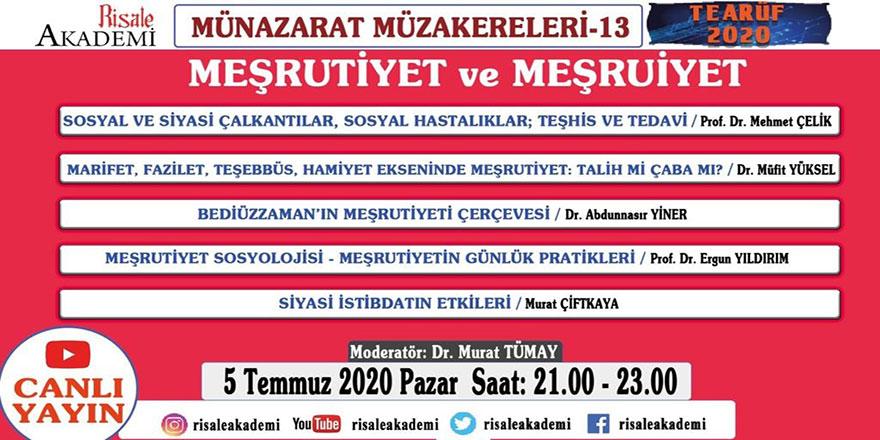 Münazarat Müzakereleri'nin 13. programı canlı yayınlanacak