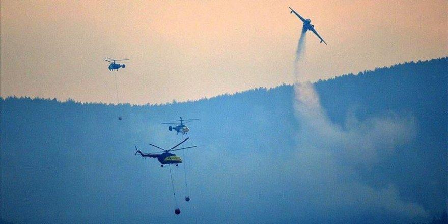 Gelibolu'daki orman yangınında havadan müdahale tekrardan başladı
