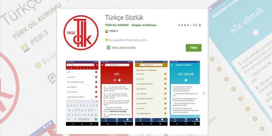 100 bin kişi akıllı telefonlarına 'TDK Türkçe Sözlüğü'nü indirdi