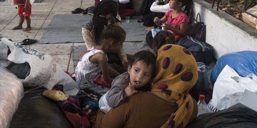 Yunanistan'daki mülteci kamplarında durum felaket