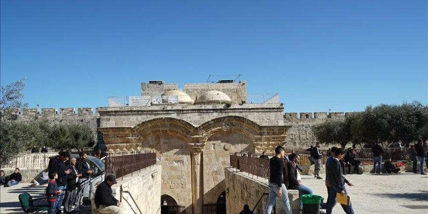 İsrail'in Mescid-i Aksa'nın Rahmet Kapısı'nı kapatma kararına Kudüs ulemasından tepki