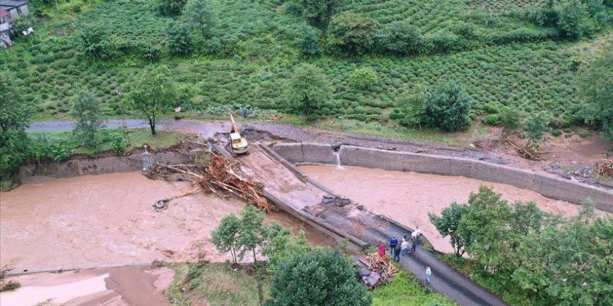 Rize'deki sel felaketinin ardından hasar tespit çalışmaları sürüyor