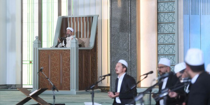 Beştepe Millet Camisi'nde 15 Temmuz şehitleri için dualar edildi