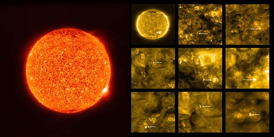 Güneş'in şimdiye kadar çekilmiş en yakın görüntüleri